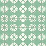 Abstract vector seamless pattern mosaic of blooms in linear arrangement on green background. Retro natural design. Wallpaper Royalty Free Stock Photography