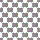 Abstract vector seamless pattern objects on a light background Royalty Free Stock Image