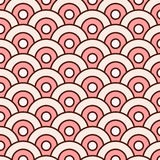 Abstract vector seamless pattern simple waves round with swatches.  Royalty Free Stock Images