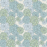 Abstract vector seamless pattern with succulentes Stock Photo