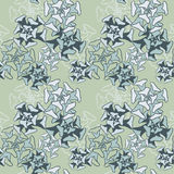 Abstract vector seamless pattern with succulentes Royalty Free Stock Photo