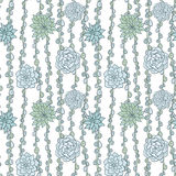 Abstract vector seamless pattern with succulentes Stock Image