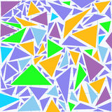 Abstract vector seamless pattern with various multicolored triangles Stock Photos
