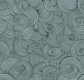 Abstract vector seamless pattern with waving curling lines, sea waves effect Stock Photography