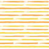 Abstract vector seamless pattern with Yellow and Orange striped. Vintage textured background. Summer time Royalty Free Stock Images
