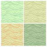 Abstract vector seamless patterns set Stock Photography