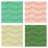 Abstract vector seamless patterns set. Royalty Free Stock Image