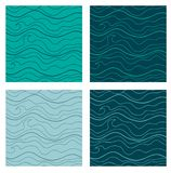 Abstract vector seamless patterns set. Fancy Stock Photo