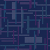 Abstract vector seamless techno pattern Royalty Free Stock Photo
