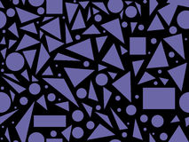 Abstract vector seamless texture with various geometric shapes Royalty Free Stock Photo
