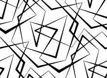 Abstract vector seamless white background of black lines. Royalty Free Stock Images
