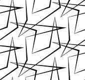 Abstract vector seamless white background of black lines. Royalty Free Stock Photos