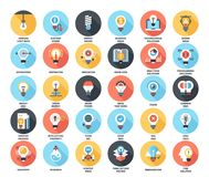 Light bulbs icons Royalty Free Stock Photography