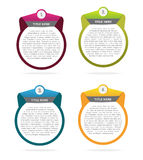 Abstract vector set of four banners background Stock Photos