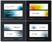 Abstract vector set of horizontal website banners with colourful flowers abstract shapes for web design. Abstract vector set of modern horizontal website Vector Illustration