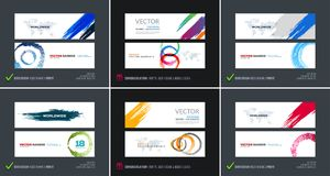 Abstract vector set of modern horizontal website banners royalty free illustration
