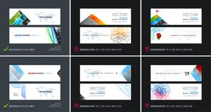 Abstract vector set of modern horizontal website banners vector illustration