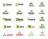 Abstract vector set of real estate logos Royalty Free Stock Image