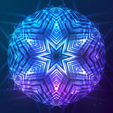 Abstract vector shining cosmic sphere stock illustration