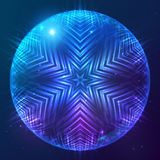 Abstract vector shining cosmic sphere Stock Photos