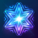 Abstract vector shining cosmic star Royalty Free Stock Images