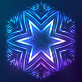 Abstract vector shining cosmic star Stock Photo