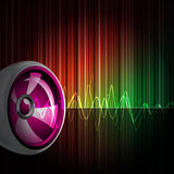 Abstract vector shiny background with speaker. Stock Photography