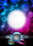 Abstract vector shiny background with speakers. Royalty Free Stock Photos
