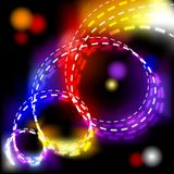 Abstract vector shiny spiral explosion background Royalty Free Stock Images
