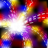 Abstract vector shiny wave explosion background Stock Images