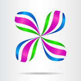 Abstract vector sign in drop and ribbon shape. Template for logotype Stock Photo
