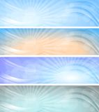 Abstract vector sky banners. Royalty Free Stock Photography