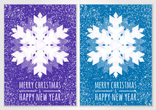 Abstract vector snowflake with winter snow background. Christmas Royalty Free Stock Photography