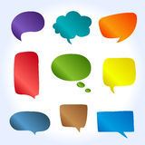 Abstract Vector Speech Bubbles Set with gradient. Royalty Free Stock Photography