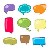 Abstract Vector Speech Bubbles Set Royalty Free Stock Photography