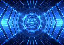 Abstract vector speed future technology background illustration Royalty Free Stock Images