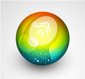Abstract vector sphere button Stock Photo