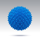 Abstract vector sphere with triangular faces Royalty Free Stock Photos