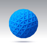 Abstract vector sphere with triangular faces Royalty Free Stock Image