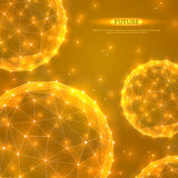 Abstract Vector Spheres. Futuristic Technology Stock Image