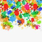Abstract Vector Splashes Background. Abstract Vector Background - Colorful Splashes, Blots on Grey Background Stock Illustration