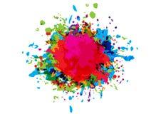 Abstract vector splatter color design background. illustration v. Ector design Royalty Free Stock Photo