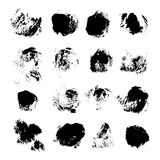 Abstract vector spots of black ink on white 1 Royalty Free Stock Photo