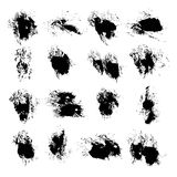 Abstract vector spots of ink on white Royalty Free Stock Photography