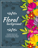 Abstract vector spring background with flowers Royalty Free Stock Photography