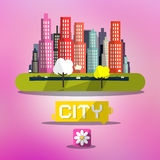Abstract Vector Spring City Stock Image