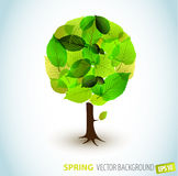 Abstract Vector spring tree illustration Stock Photo