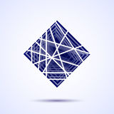 Abstract vector square shape . Abstract geometrical modern design template for your logotype. Vector illustration. Abstract vector blue square shape . Abstract Royalty Free Stock Photos