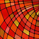 Vector stained-glass mosaic background. Abstract vector stained-glass mosaic background stock illustration