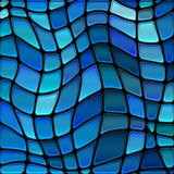 Vector stained-glass mosaic background. Abstract vector stained-glass mosaic background vector illustration